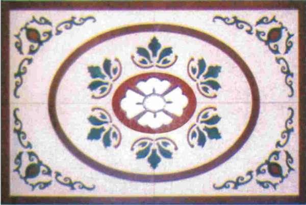 阳台瓷砖拼花效果图; 和懋盛 》水刀艺术加工 》水刀艺术加工 》拼花